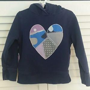 Mini Boden Heart Applique Hoodie Sweatshirt